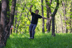Slackline Photographie stock