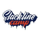 Slackline obozu literowania logo Zdjęcie Stock