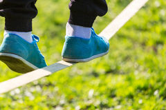 Slackline Royalty Free Stock Images