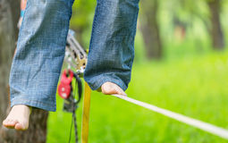 Slacklining Photos stock