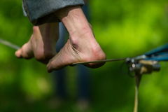 Slacklining royalty free stock photo