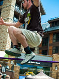 Slacklining Stock Photography