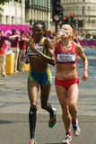 Sladana Perunovic + marathon olympique de Lucia Kimani- Photos libres de droits