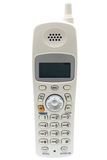 sladdlös främre telefonwhite royaltyfri bild