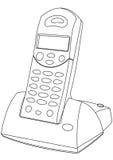 Sladdlös telefon  royaltyfri illustrationer