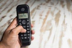Sladdlös telefonlurtelefon royaltyfria bilder