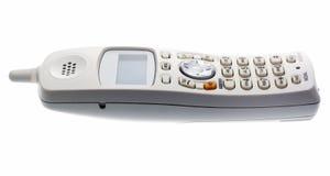 sladdlös telefonwhite royaltyfri bild