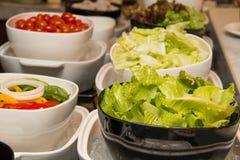 Slads przy bufeta barem w hotelowej restauraci Fotografia Stock