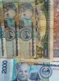Slafen är valutan av Laos Royaltyfri Fotografi