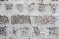 Slag-block wall. Slag-block wall without external plaster, as a background Stock Photo