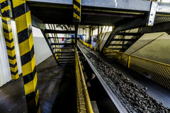 Slag on conveyor Royalty Free Stock Photo