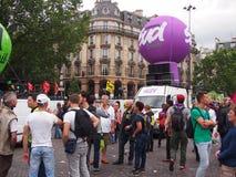 Slag och protest i Paris royaltyfria foton