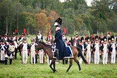 Slag onder Borodino in 1812 Stock Afbeeldingen