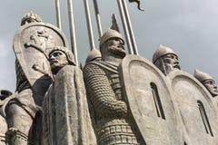 Slag op het Ijsmonument in Pskov royalty-vrije stock foto