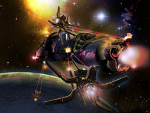 Slag in ruimte Royalty-vrije Stock Fotografie