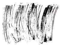 Slag (steekproef) van zwarte mascara Royalty-vrije Stock Afbeeldingen