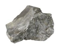 Slag stone. In white back Stock Photos