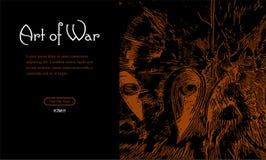 Slag van de Ridders voor uw Webontwerp royalty-vrije illustratie