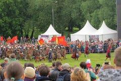 Slag van duizend zwaarden Royalty-vrije Stock Foto