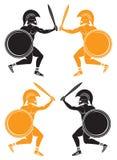 Slag van gladiatoren Royalty-vrije Stock Afbeeldingen