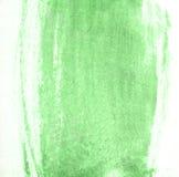 Slag van groene verfborstel voor achtergrond Royalty-vrije Stock Foto's
