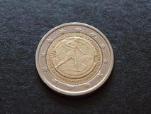 Slag van het muntstuk van de Marathonverjaardag Stock Foto