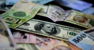 Slag van munten Stock Foto's