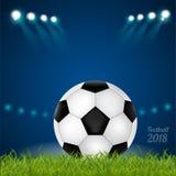 Slag van teams op het gebied, tegenover, voetbal 2018, Royalty-vrije Stock Afbeelding
