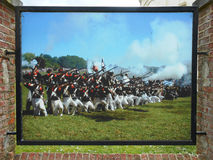 SLAG VAN WATERLOO, BELGIË Royalty-vrije Stock Foto