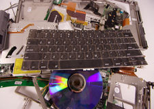 slagen sönder bärbar dator Royaltyfri Bild