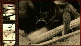 Slagen van Wereldoorlog II stock videobeelden