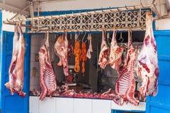 Slager in Essaouira Stock Foto's