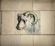 Slager Shop Goat Tile Stock Afbeelding