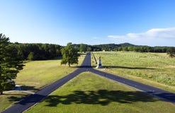 slagfält gettysburg pennsylvania väg format y arkivfoto