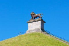 Slagfält i den Waterloo monumentet royaltyfri foto