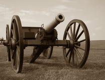 slagfältkanoninbördeskrig Royaltyfria Bilder