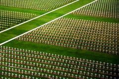 slagfältkyrkogård verdun royaltyfri fotografi