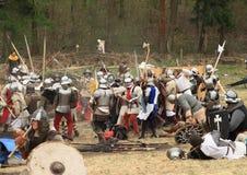 Slaggebied royalty-vrije stock foto