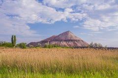 Slagheap van Oekraïense steppe stock foto