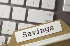 Slagindexkort med besparingar 3d Arkivbilder