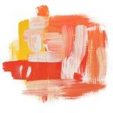 Slaglängd för klick för buse för borste för målarfärg för gouacheakrylkonst arkivbilder