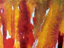 Slaglängder för abstrakt begrepp för vattenfärgkonstbakgrund deserterar stenen vaggar brunt gult varmt material texturerad suddig Arkivfoto