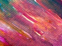 Slaglängder för apelsin för höst för abstrakt begrepp för vattenfärgkonstbakgrund färgrika texturerade röda Royaltyfri Bild