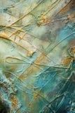 Slaglängder för borste för abstrakt målarfärgbrunt guld-, hypnotisk bakgrund för organisk textil Royaltyfri Bild