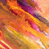 Slaglängder för höst för abstrakt begrepp för vattenfärgkonstbakgrund färgrika texturerade varma Arkivfoto