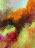 Slaglängder för orange guling för höst för abstrakt begrepp för vattenfärgkonstbakgrund färgrika texturerade röda varma Arkivfoto