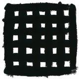 Slaglängder för svart fyrkant och borste Royaltyfri Bild