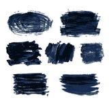 Slaglängd för färgvektorborste Arkivfoton
