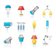 slags lighting för olik utrustning vektor illustrationer