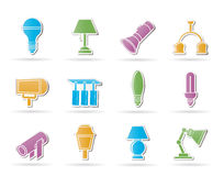 slags lighting för olik utrustning royaltyfri illustrationer
